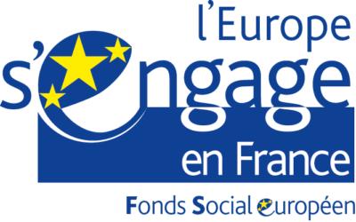 logo l'europe s'engage en france, fonds social européen