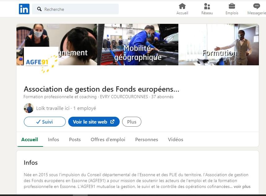 Retrouvez l'AGFE91 sur LinkedIn !