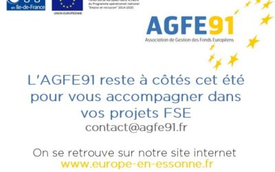 L'AGFE91 reste à vos côtés cet été