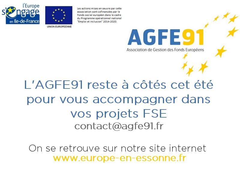 L'AGFE91 reste à vos côtés cet été !